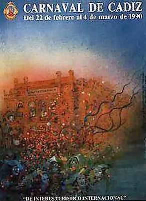Cartel Carnaval de Cádiz 1990