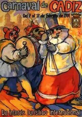 Cartel Carnaval de Cádiz 1991