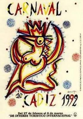 Cartel Carnaval de Cádiz 1992