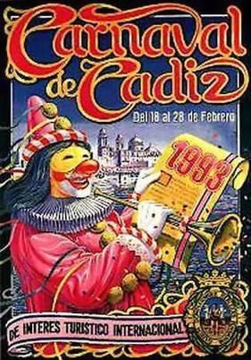 Cartel Carnaval de Cádiz 1993
