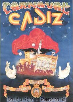 Cartel Carnaval de Cádiz 1996