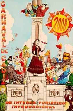 Cartel Carnaval de Cádiz 2008